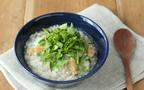 冷やごはんに冷凍のあさりでできる時短レシピ「あさりとせりの雑炊」