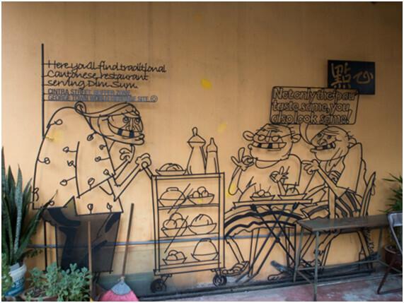 街中がアート! マレーシア世界遺産の島で景色を楽しむ