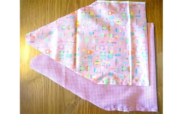 おにぎりポーチの作り方。簡単、手縫いでもOK!