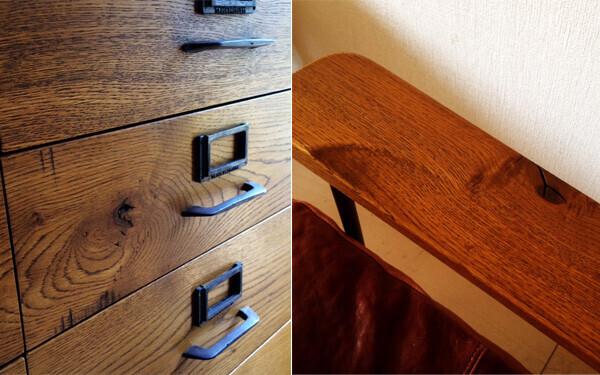 良い木材で作られた家具は傷や節目さえも味になります。