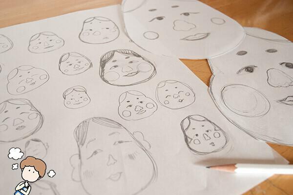 ぺったん! マグネット福笑い、子どもが冷蔵庫に貼れるお正月飾り【おうちで季節イベント お手軽アートレシピ Vol.2】