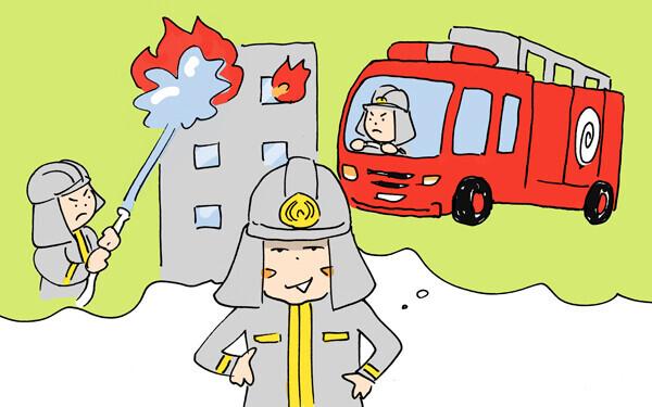 息子の気分は消防士。防災訓練で放水はじめッ!【下請けパパ日記~家庭に仕事に大興奮~ Vol.7】