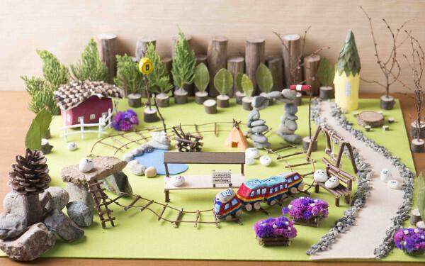 夏休みの自由研究、工作アイディア、鉄道ジオラマ