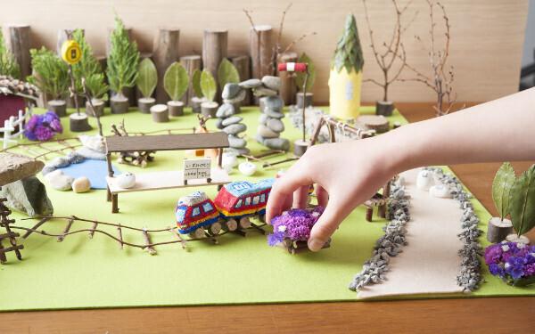 電車好きなら自由研究は「作り鉄」に挑戦!  自然素材で工作!