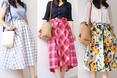 【しまむら&GUコーデ】花柄&チェック柄スカートで夏気分