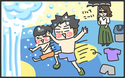 水遊び初心者は失敗だらけ…。これで助かる便利な持ち物って?【メンズかーちゃん~うちのやんちゃで愛おしいおさるさんの物語~ 第39回】