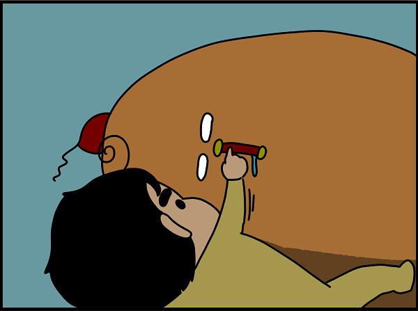 寝ている私の口に指を突っ込んだ息子。寝ぼけていた【ドイツDE親バカ絵日記 Vol.2】