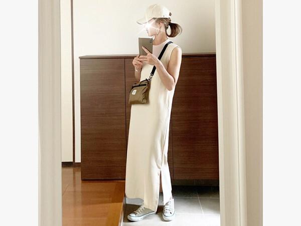 「コンバース」でつくる大人カジュアルコーデ 絶妙カラーが女性らしさを格上げ!【AYAのプチプラ格上げコーデ Vol.6】