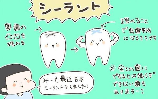 虫歯予防のために奥歯にシーラントも! 日頃、子どもたちにしているデンタルケア【産後太りこじらせ母日記 第47話】
