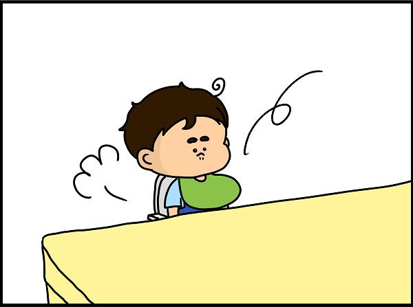 息子はストンとベビーチェアに座ってくれました
