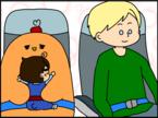 ベビー連れ飛行機の救世主!「バシネット席」ってどんな席? ギャン泣き息子に隣の男性が神対応【ドイツDE親バカ絵日記 Vol.11】