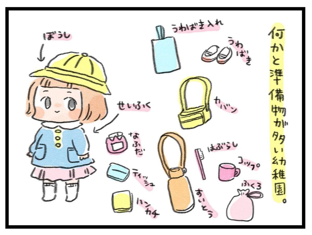 わが家の幼稚園グッズ収納法