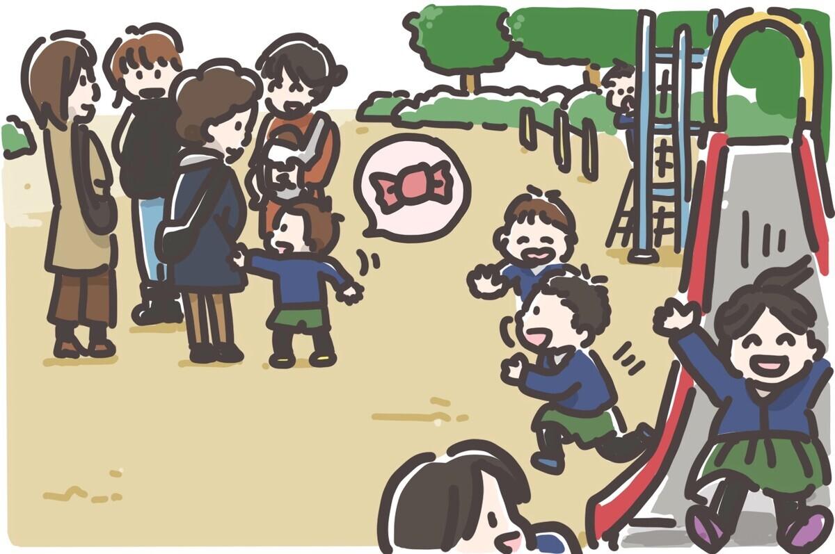 公園でのお遊びタイム