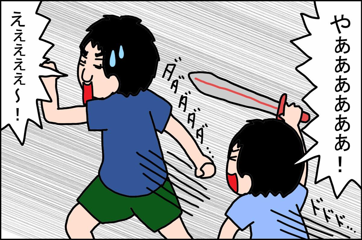 唯一、息子が剣での戦いを全力で挑んでいく相手がいました