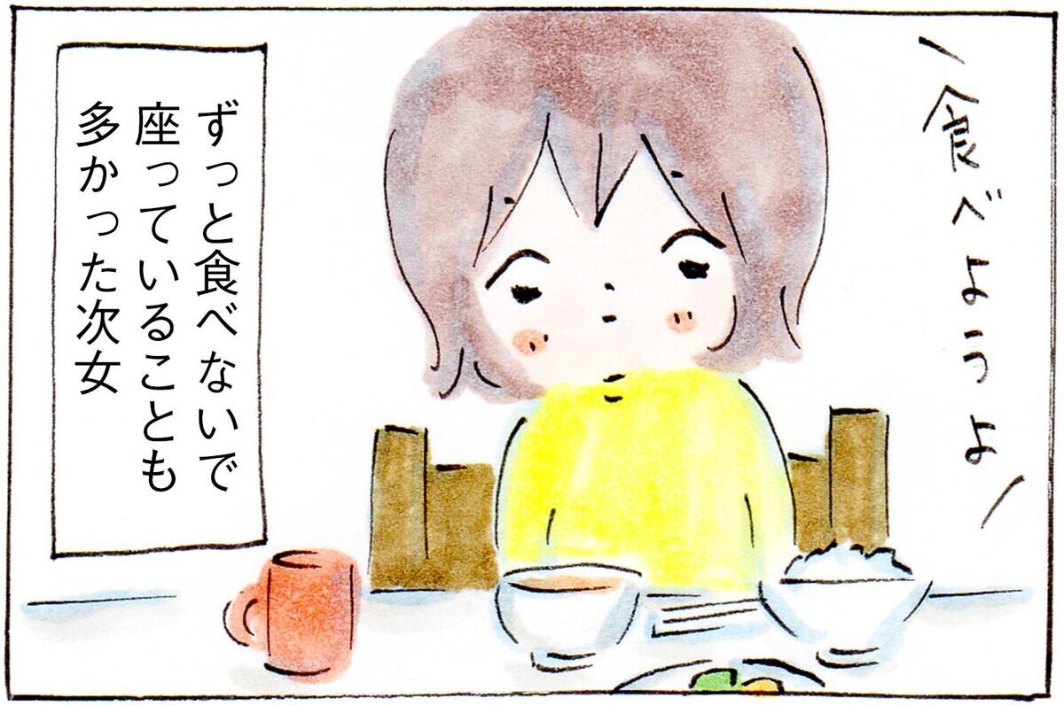 朝は食欲がわかないようで、なかなか箸がすすまない娘