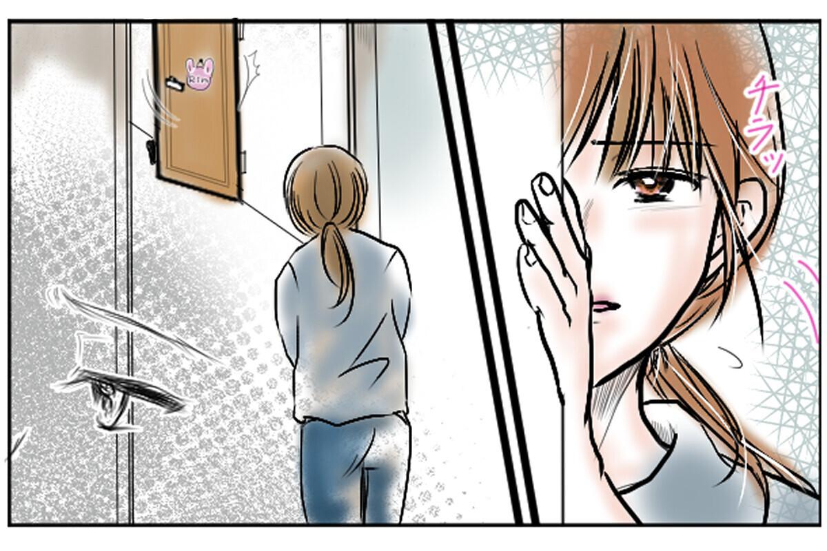 心配で娘をのぞくと、大きな音を出して部屋の扉を閉められる