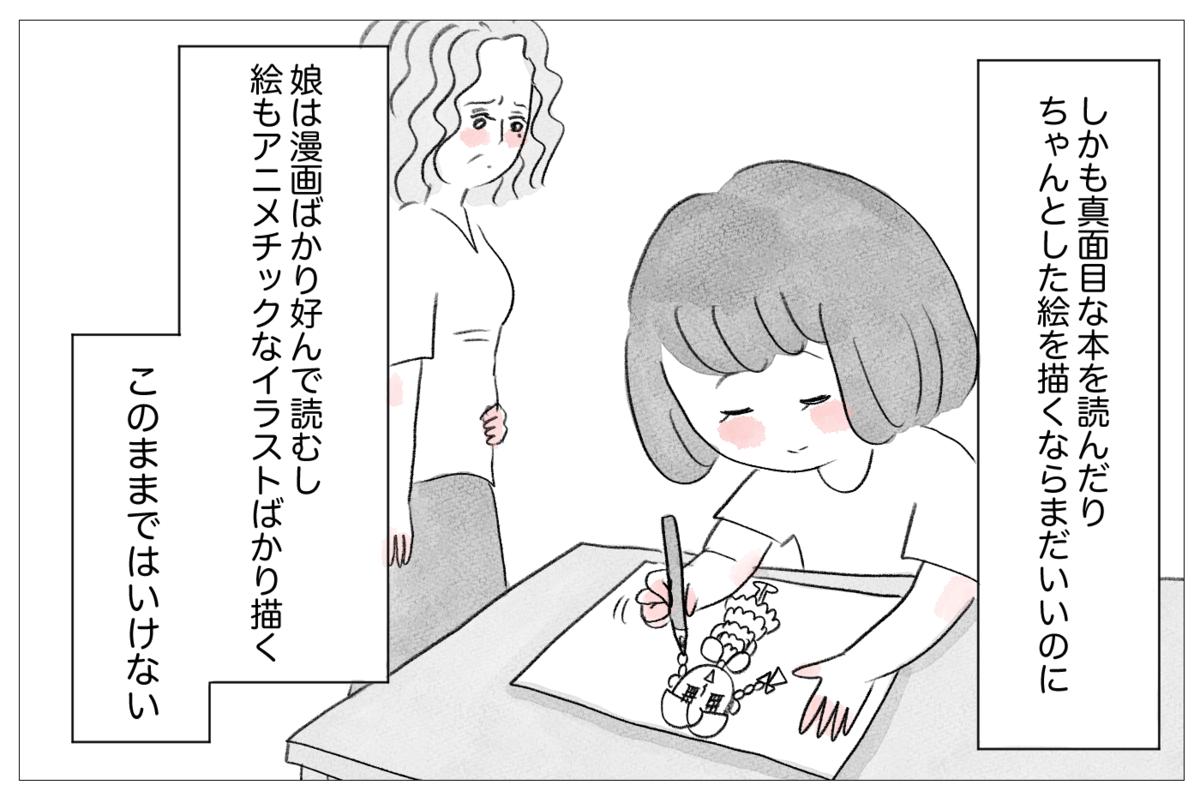 しかもマンガばかり読んでアニメのイラストばかり描く