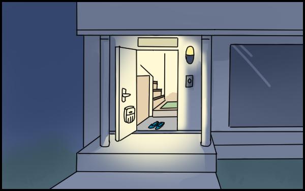 夫に子どもを任せ帰宅したら…恐怖の「玄関全開」事件が発生!【たんこんちは ボロボロゆかい Vol.13】