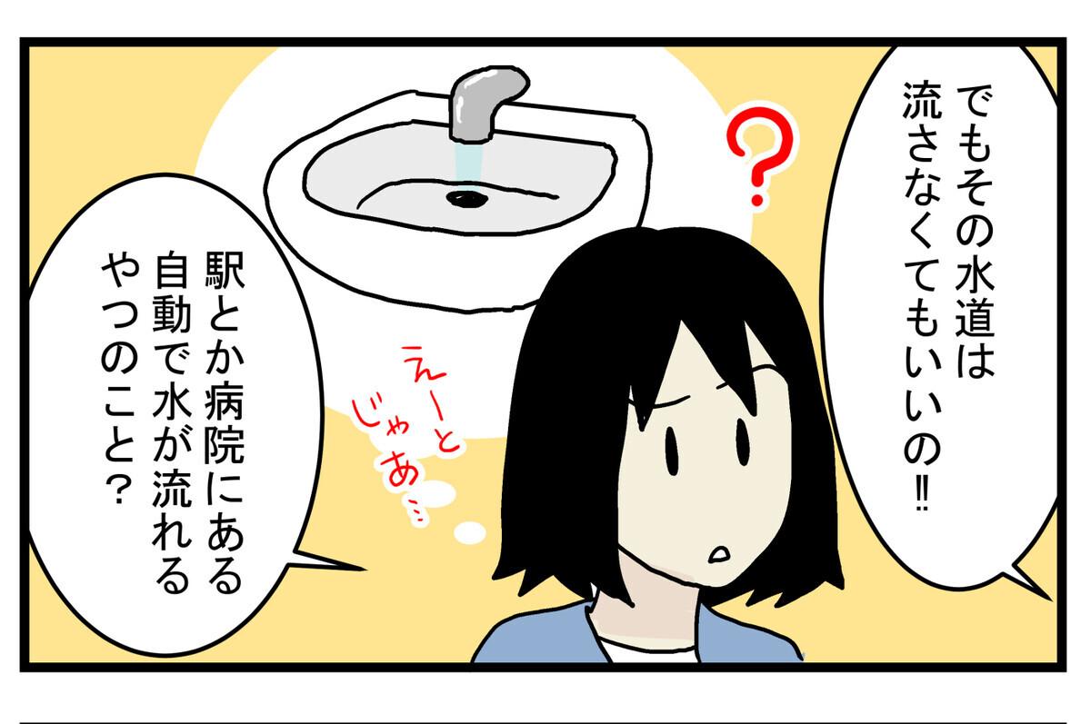 自動的に蛇口のひねる部分も洗われる便利な蛇口だそうです