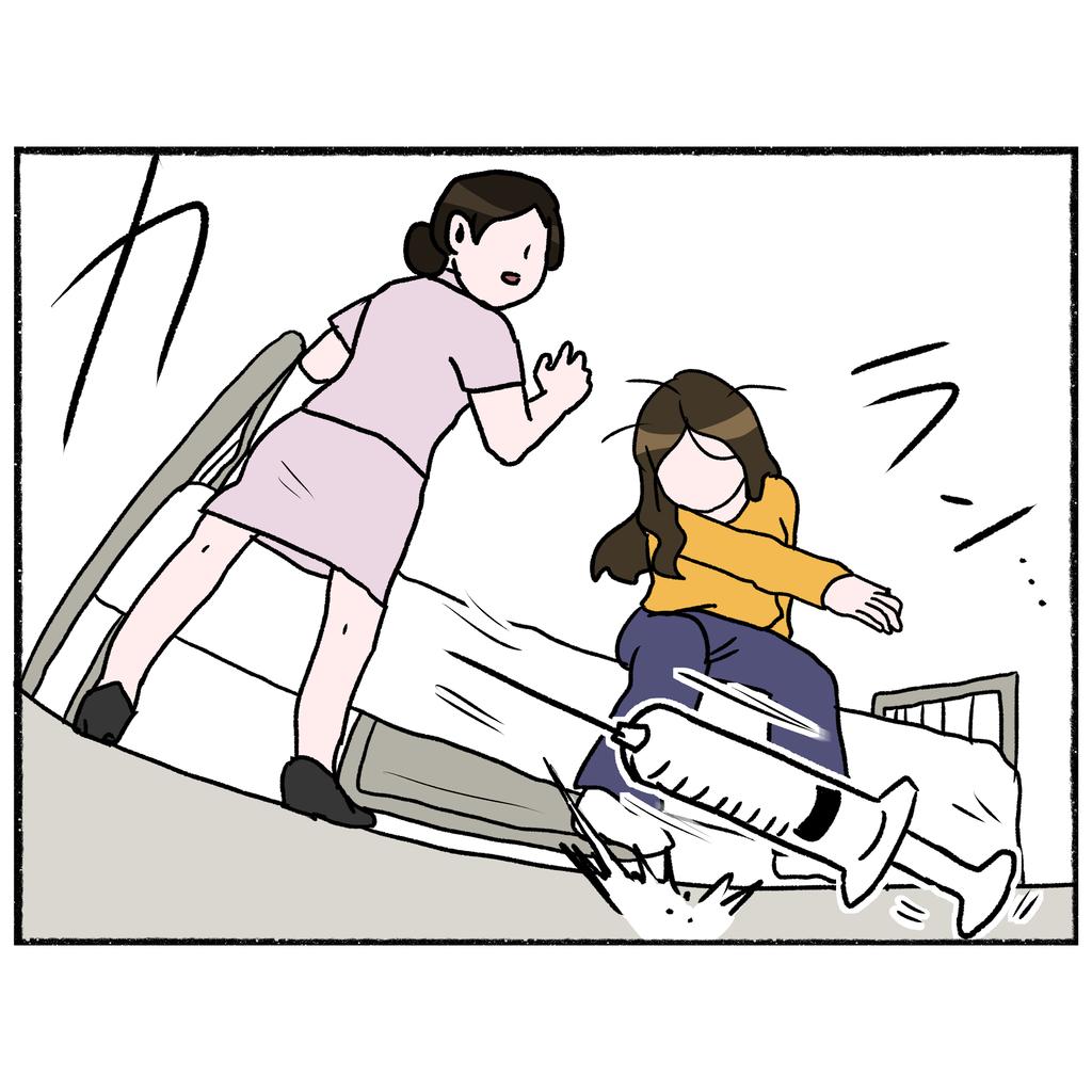 過去の記憶がフラッシュバック! 注射を抵抗する母に看護師は…【母とうつと私 Vol.25】