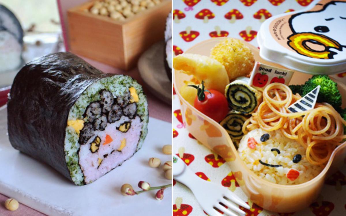 簡単かわいい鬼キャラ弁当飾り巻き寿司のアイディアウーマン