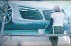 """銭湯のペンキ絵がアウディの広告に 32歳、日本唯一の女性銭湯絵師が描く""""銭湯の未来"""""""