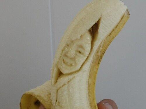 爪楊枝1本で誰でもできる! バナナ職人にバナナの彫り方を教えてもらった