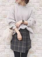 おしゃれなスカート見っけ♡冬もチェック柄スカートが履きたいんです!