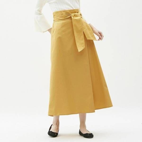 GUのチノフレアマキシスカート