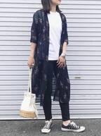 毎日でも着たい!Tシャツ×サラッと羽織りものコーデが春本番に大活躍