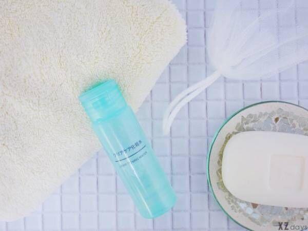 化粧水と石鹸とネット