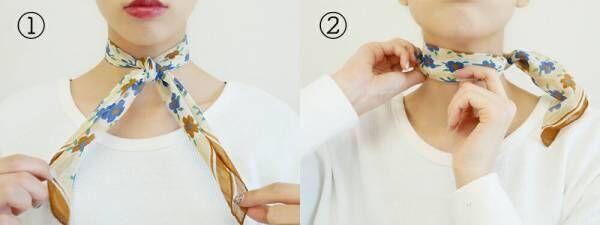 4つの巻き方をマスターして!春のおしゃれなスカーフONスタイル♡