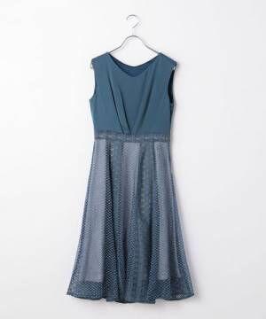 寒色系のドレス