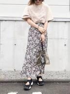 ワンツーで決まる!夏はTシャツ×スカートコーデが楽チンかわいい♡