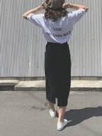 コーデの主役は背中。2019夏のHITはバックプリントTシャツ!