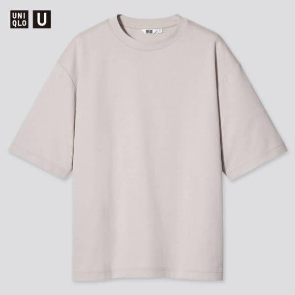 ユニクロのエアリズムコットンオーバーサイズTシャツ