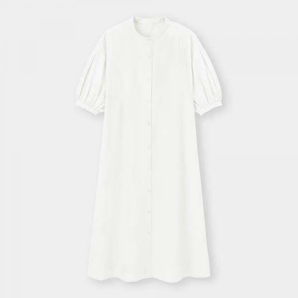 GUのバンドカラーシャツワンピースの写真