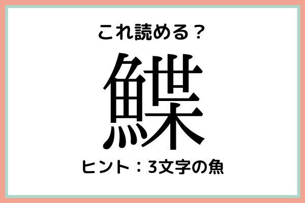 「鰈」って何て読むっけ…?大人なら知っておきたい魚の《難読漢字》