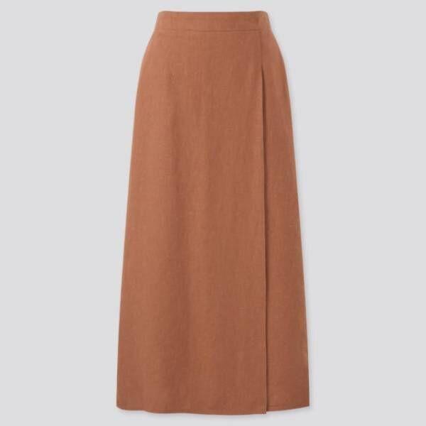 ユニクロのリネンレーヨンナロースカート