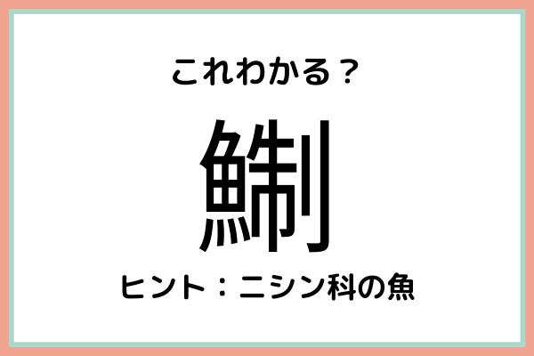 「鯯」って何て読むっけ…?大人なら知っておきたい魚の《難読漢字》