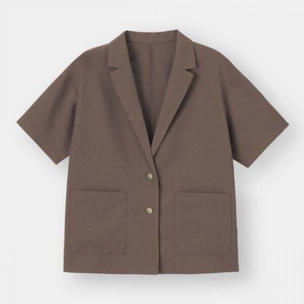 GUのライトオーバーサイズシャツジャケット