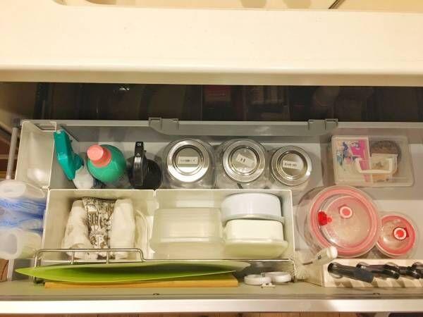 100均・無印良品・カインズアイテムを活用したキッチンシンク下の収納