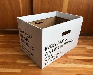 【キャンドゥ】モノトーンでカッコイイ!ペーパーボックス全6サイズ紹介