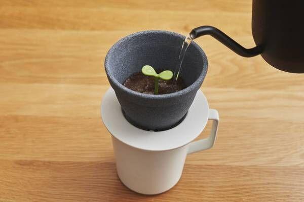 10月22日はドリップコーヒーの日!まるで植木鉢の新芽に水をあげるようにドリップを楽しむセラミックフィルター+d Kinome 11月上旬発売